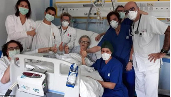 95-year-old woman recovers from coronavirus in Italy