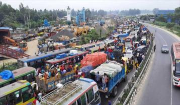 ঢাকা-টাঙ্গাইল মহাসড়কে ২৫ কিলোমিটার তীব্র যানজট