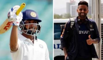 ইংল্যান্ড সিরিজে ভারতের টেস্ট দলে পৃথ্বী-সূর্যকুমার