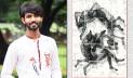 জাতীয় চারুকলা প্রদর্শনীতে ষড়জের 'চিন্তার ঝড়'