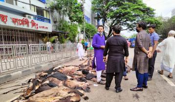 রাজধানীর সায়েন্সল্যাবে চলছে চামড়া কেনাবেচা