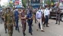 বগুড়ায় দোকানপাট বন্ধ, কঠোর অবস্থানে আইনশৃঙ্খলা বাহিনী