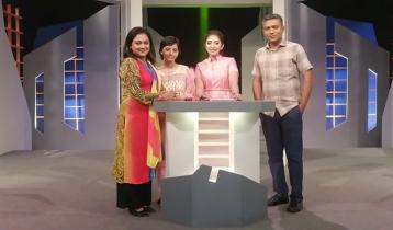 মেয়ের হাত ধরে টিভি অনুষ্ঠানে হিসান খান বাবু