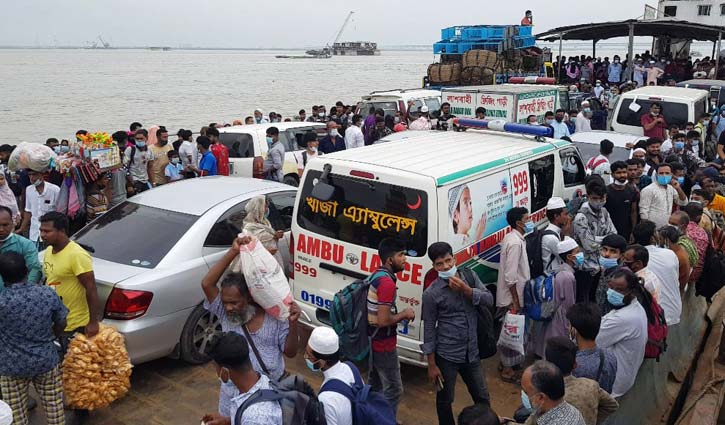 Ferry services on Shimulia-Banglabazar route halted