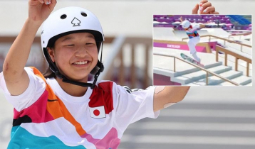 13-year-old gets Olympic gold
