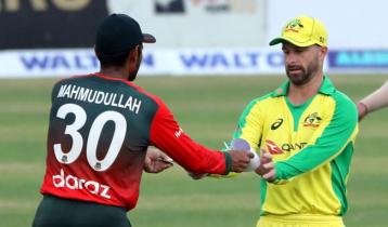 Bangladesh batting in 1st T20I against Australia
