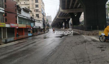 Empty streets in Ctg as strict Covid lockdown begins