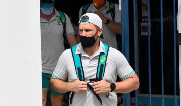Australia Cricket team arrive in Dhaka