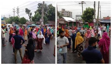RMG workers block Sreepur highway