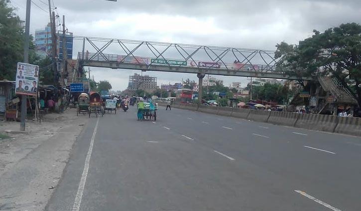 লকডাউন: ঢাকা-চট্টগ্রাম মহাসড়ক ফাঁকা