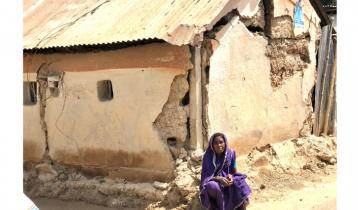 ফাটল ধরা বাড়িতে নির্ঘুম রাত কাটে বৃদ্ধা তালা মার্ডি'র