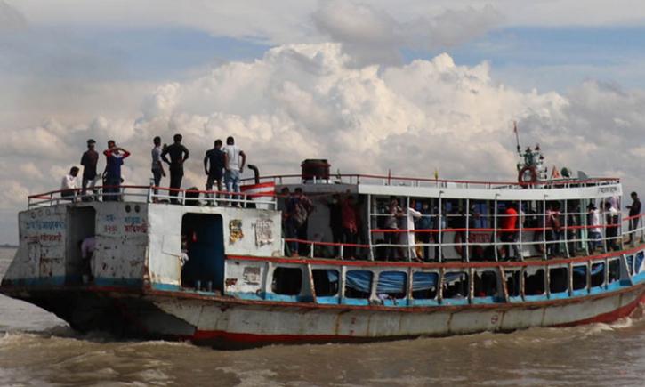 বাংলাবাজার-শিমুলিয়া ঘাটে লঞ্চ চলাচল বন্ধ