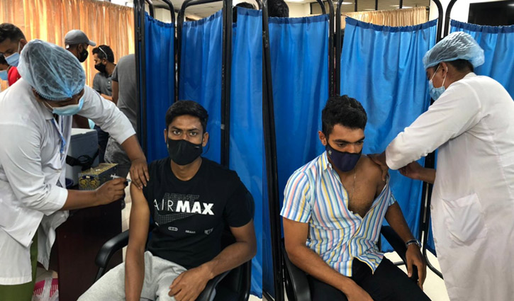 Cricketers receive second dose of coronavirus vaccine