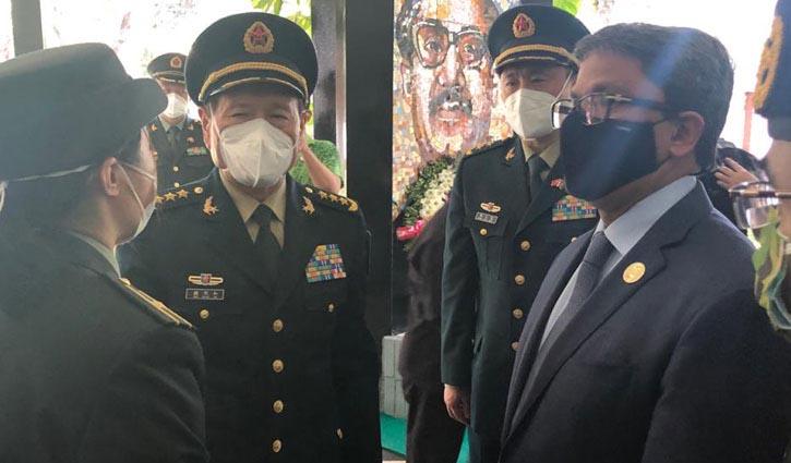 Chinese defence minister pays homage to Bangabandhu