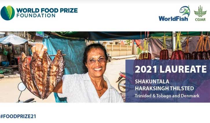 Dr. Thilsted awarded World Food Prize 2021