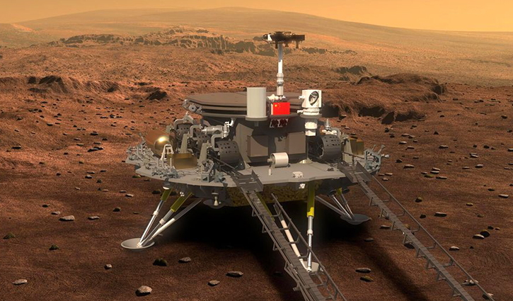 China spacecraft touches down on Mars