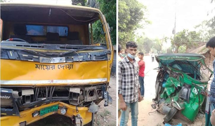 Four auto-rickshaw passengers crushed under truck