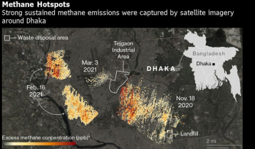 Mysterious plumes of methane gas appear over Bangladesh