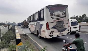 Long-route buses plying on Dhaka-Tangail highway