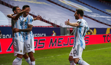 Goal from Rodriguez helps Argentina secure win