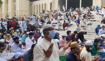Prayers offered seeking liberation from corona at Eid jamaat