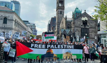 Protests held in Boston against Israeli attack on Gaza