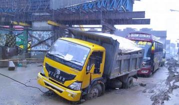 Heavy traffic jam on Dhaka-Mymensingh highway