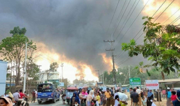 Fire breaks out at Rohingya camp in Bangladesh