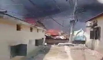 Balurmath Slum catches fire