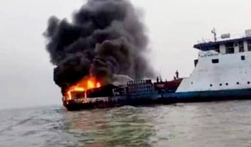 Ferry catches fire in Meghna: Probe body formed