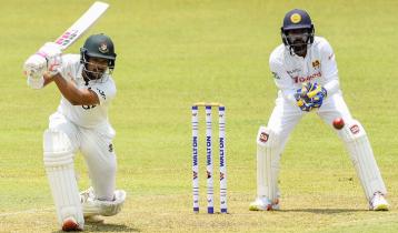 Shanto hits maiden Test century