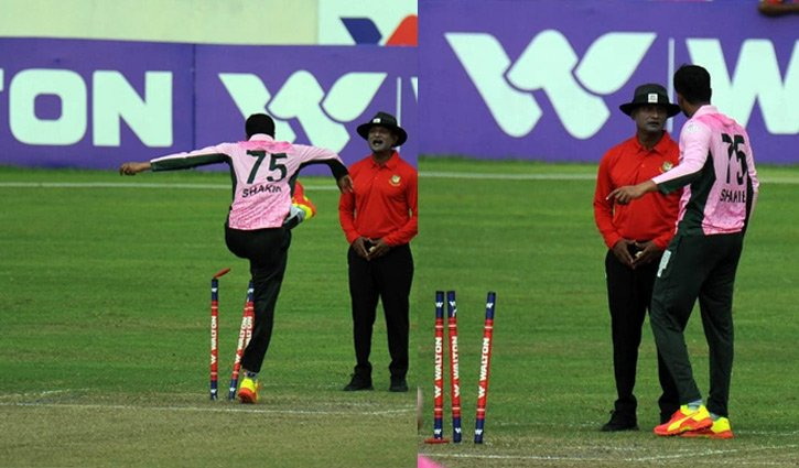 Shakib apologies for losing temper in DPL match