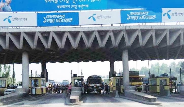 25,000 vehicles cross Bangabandhu Bridge in 24 hours