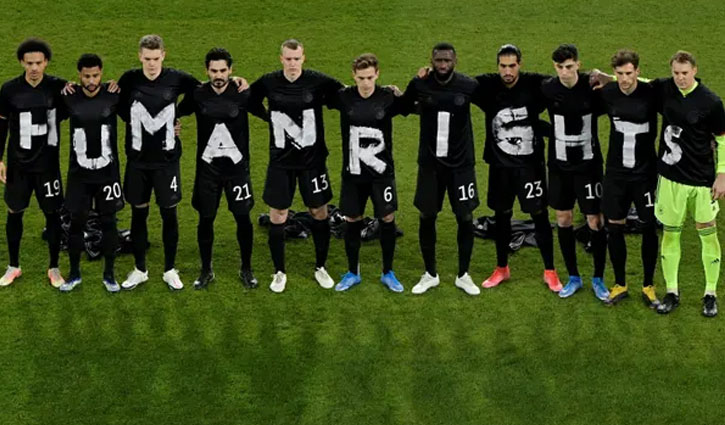 Germany players in `Human Rights` message ahead of WC qualifier