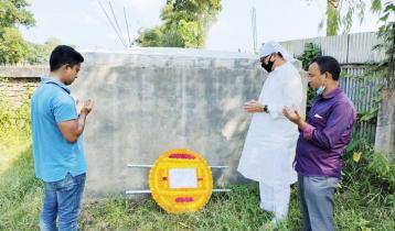 বীর মুক্তিযোদ্ধা আব্দুস শহীদের কবরে দীপঙ্কর তালুকদার এমপির ফুলেল শ্রদ্ধা