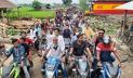 ৫০০ মোটরসাইকেল নিয়ে আওয়ামী লীগ প্রার্থীর শোডাউন