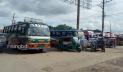 সুনামগঞ্জে বাস ধর্মঘট, ভোগান্তিতে যাত্রীরা