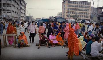 Garment workers block Gazipur highway