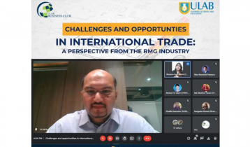 Webinar on Challenges & opportunities in Int'l Trade held at ULAB