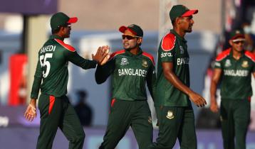 Bangladesh batting against Sri Lanka