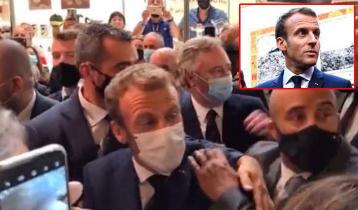 Macron hit with egg