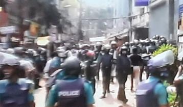 BNP men clash with police at Nayapaltan